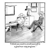"""I think you need to enroll yourself in a good two-step program."" - New Yorker Cartoon Premium Giclee Print by Matthew Diffee"