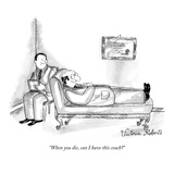 """When you die, can I have this couch"" - New Yorker Cartoon Premium Giclee Print by Victoria Roberts"