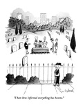 """I hate how informal everything has become."" - New Yorker Cartoon Premium Giclee Print by W.B. Park"