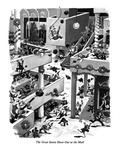 The Great Santa Shoot-Out at the Mall - New Yorker Cartoon Premium Giclee Print by Eldon Dedini