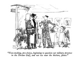 """Non-smoking, pro-choice, beginning to question our military presence in t…"" - New Yorker Cartoon Premium Giclee Print by Robert Weber"
