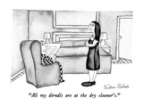 """All my dirndls are at the dry cleaner's."" - New Yorker Cartoon Regular Giclee Print by Victoria Roberts"