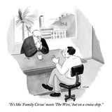 """""""It's like 'Family Circus' meets 'The Wire,' but on a cruise ship."""" - New Yorker Cartoon Premium Giclee Print by Emily Flake"""