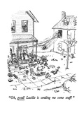 """""""Oh, good! Lucille is sending me some stuff!"""" - New Yorker Cartoon Giclee Print by George Booth"""