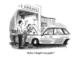 """At first, I thought it was gunfire."" - New Yorker Cartoon Premium Giclee Print by Mike Twohy"