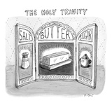 The three panels of a large, decorative structure (the kind used for chang… - New Yorker Cartoon Premium Giclee Print by Roz Chast