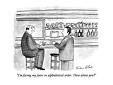 """I'm facing my fears in alphabetical order.  How about you"" - New Yorker Cartoon Regular Giclee Print by Victoria Roberts"
