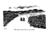 """My people will get back to your people."" - New Yorker Cartoon Premium Giclee Print by Eldon Dedini"