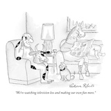 """We're watching television less and making our own fun more."" - New Yorker Cartoon Premium Giclee Print by Victoria Roberts"
