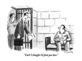 """Carl!  I thought I'd find you here."" - New Yorker Cartoon Premium Giclee Print by Mike Twohy"