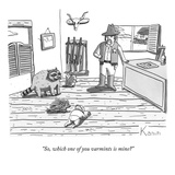 """So, which one of you varmints is mine"" - New Yorker Cartoon Premium Giclee Print by Zachary Kanin"
