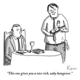 """This one gives you a nice rich, oaky hangover."" - New Yorker Cartoon Premium Giclee Print by Zachary Kanin"