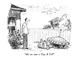 """Are we near a Toys R Us"" - New Yorker Cartoon Premium Giclee Print by Robert Weber"