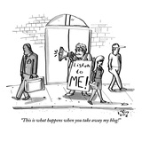 """This is what happens when you take away my blog!"" - New Yorker Cartoon Regular Giclee Print by Farley Katz"