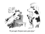 """It's your agent.  Everyone wants a piece of you."" - New Yorker Cartoon Premium Giclee Print by Mike Twohy"