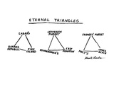 Eternal Triangles: - New Yorker Cartoon Premium Giclee Print by Stuart Leeds