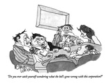 """Do you ever catch yourself wondering what the hell's gone wrong with this…"" - New Yorker Cartoon Premium Giclee Print by Gahan Wilson"