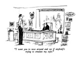 """I want you to nose around and see if anybody's trying to emulate my style."" - New Yorker Cartoon Premium Giclee Print by Robert Weber"