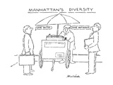 Manhattan's Diversity - New Yorker Cartoon Regular Giclee Print by Stuart Leeds