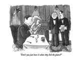 """Don't you just love it when they lick the plates"" - New Yorker Cartoon Premium Giclee Print by Gahan Wilson"