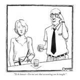 """To be honest—I'm not sure that accounting can be taught."" - New Yorker Cartoon Premium Giclee Print by Matthew Diffee"