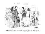 """Benjamin, we've discovered, is quite gifted at third base."" - New Yorker Cartoon Premium Giclee Print by Robert Weber"
