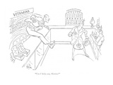 """Can I help you, Madam"" - New Yorker Cartoon Premium Giclee Print by George Price"