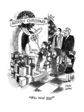 """Who hired him"" - New Yorker Cartoon Premium Giclee Print by Joseph Farris"