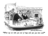 """What say we take you out of dogs and put you into cats"" - New Yorker Cartoon Premium Giclee Print by Bernard Schoenbaum"