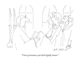"""I now pronounce you both legally insane."" - New Yorker Cartoon Premium Giclee Print by Ed Arno"