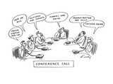 """Conference Call"" - New Yorker Cartoon Premium Giclee Print by Mike Twohy"