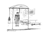 Dog dragging parking meter. - New Yorker Cartoon Premium Giclee Print by Bill Woodman