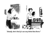 """Actually, there's kind of a cute story behind that divorce."" - New Yorker Cartoon Premium Giclee Print by Mike Twohy"