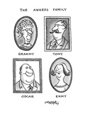 The Awards Family - New Yorker Cartoon Giclee Print by Henry Martin