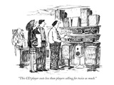 """This CD player costs less than players selling for twice as much."" - New Yorker Cartoon Giclee Print by Robert Weber"