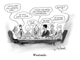 Wordsmiths - New Yorker Cartoon Premium Giclee Print by W.B. Park