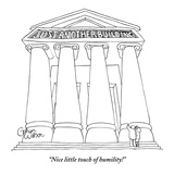 """Nice little touch of humility!"" - New Yorker Cartoon Premium Giclee Print by Gahan Wilson"