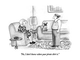 """No, I don't know where your pirate shirt is."" - New Yorker Cartoon Premium Giclee Print by Victoria Roberts"