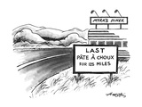 Outside of Myra's Diner there is a sign that reads 'Last Pate A Choux for … - New Yorker Cartoon Premium Giclee Print by Henry Martin