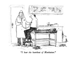 """I hear the heartbeat of Manhattan."" - New Yorker Cartoon Premium Giclee Print by Robert Weber"