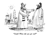 """""""Jonah!  When did you get out"""" - New Yorker Cartoon Premium Giclee Print by Dana Fradon"""