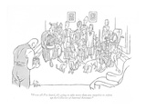 """From all I've heard, it's going to take more than any snapshot to soften …"" - New Yorker Cartoon Premium Giclee Print by George Price"