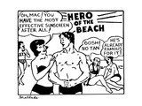 Hero of the Beach - New Yorker Cartoon Regular Giclee Print by Stuart Leeds