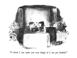 """I think I can make you very happy if I can get funded."" - New Yorker Cartoon Premium Giclee Print by Robert Weber"