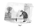 """Stay!"" - New Yorker Cartoon Premium Giclee Print by Victoria Roberts"