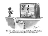 """I'm into whole grains and long dirt baths, and I'm looking for someone wh…"" - New Yorker Cartoon Premium Giclee Print by Mike Twohy"
