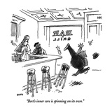 """""""Bert's inner core in spinning on its own."""" - New Yorker Cartoon Giclee Print by George Booth"""