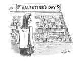 Woman in card shop sees 'inappropriate relationship' category. - New Yorker Cartoon Premium Giclee Print by Mike Twohy