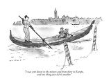 """I was sent down to the minors and from there to Europe, and one thing jus…"" - New Yorker Cartoon Premium Giclee Print by Bill Woodman"