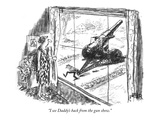 """I see Daddy's back from the gun show."" - New Yorker Cartoon Regular Giclee Print by Robert Weber"